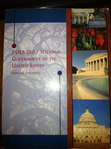 9780495478799: POLS 010 National Government of the United States Howard University