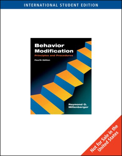 9780495500353: Behavior Modification (ISE): Principles and Procedures