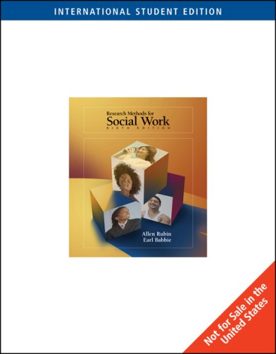 9780495501725: Research Methods for Social Work