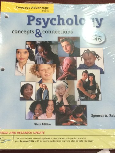 9780495503651: Psychology: Concepts and Connections, Media and Research Update (Thomson Advantage Books)