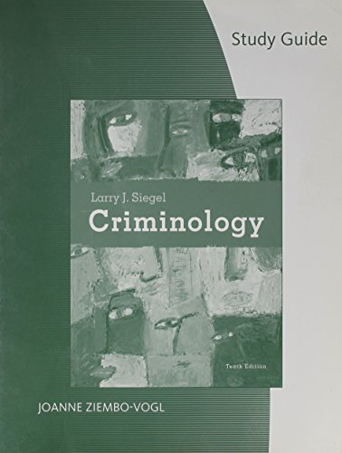 9780495504207: Study Guide for Siegel's Criminology, 10th