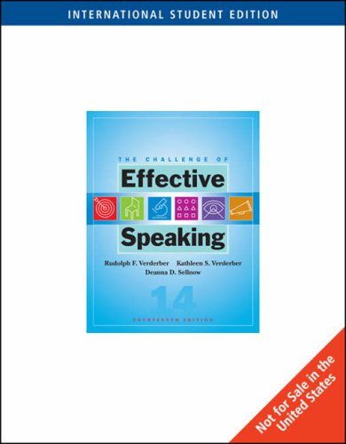 9780495504405: The Challenge of Effective Speaking (14th International Edition)