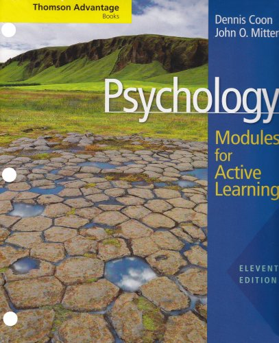 Thomson Advantage Books: Psychology: Modules for Active: Dennis Coon, John
