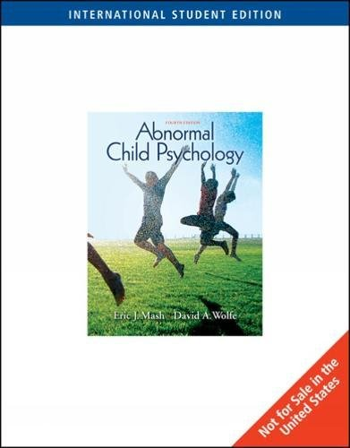 9780495506171: Abnormal Child Psychology, International Edition