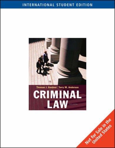 9780495507864: Criminal Law, International Edition