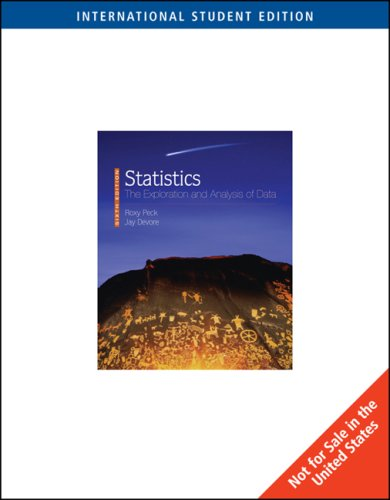 9780495552994: Statistics: The Exploration and Analysis of Data