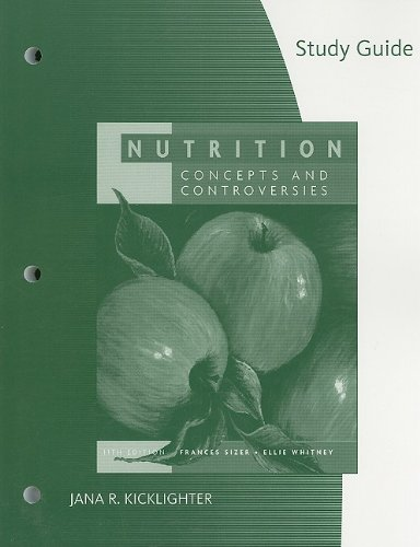9780495553045: Study Guide for Sizer/Whitney's Nutrition: Concepts and Controversies, 11th