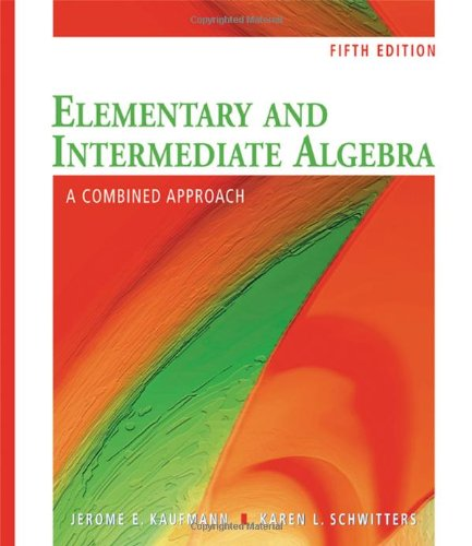 9780495553458: Elementary and Intermediate Algebra: A Combined Approach (Available 2010 Titles Enhanced Web Assign)