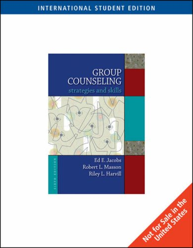9780495554387: Group Counseling: Strategies and Skills (6th International Edition)