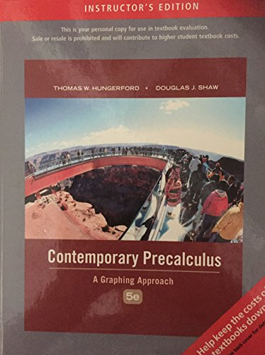 9780495554417: Contemporary Precalculus (Annotated Instructor's) Edition: Fifth