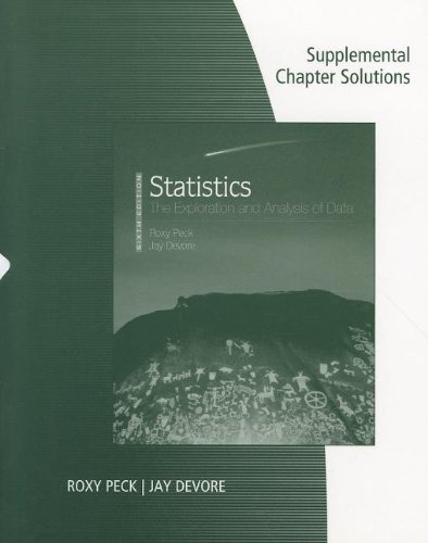Supplemental Chapter Solutions for Peck/Olsen/Devore's Introduction to Statistics and Data Analysis, 3rd (0495554944) by Peck, Roxy; Olsen, Chris; Devore, Jay L.