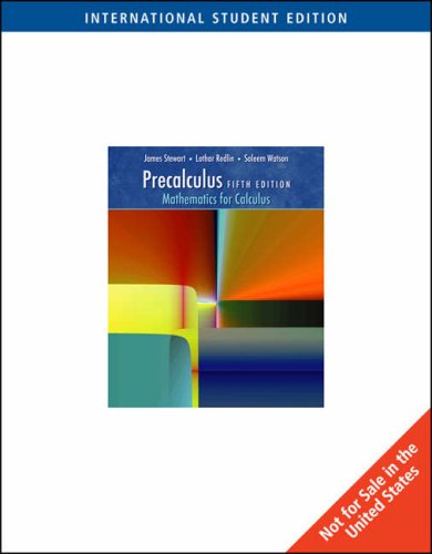 9780495554974: Precalculus: Mathematics for Calculus