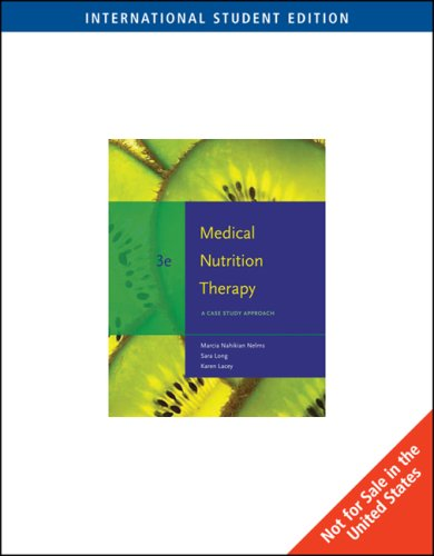 9780495555377: Medical Nutrition Therapy: A Case Study Approach