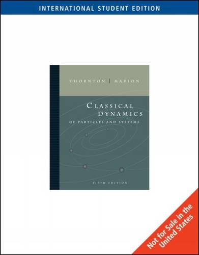 9780495556107: Classical Dynamics of Particles and Systems