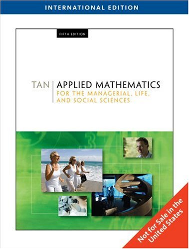 9780495559993: Applied Mathematics for the Managerial, Life, and Social Sciences, International Edition (with CD-ROM)