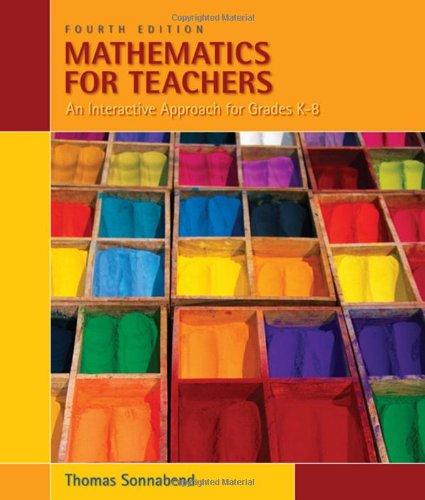 9780495561668: Mathematics for Teachers: An Interactive Approach for Grades K-8 (Available 2010 Titles Enhanced Web Assign)