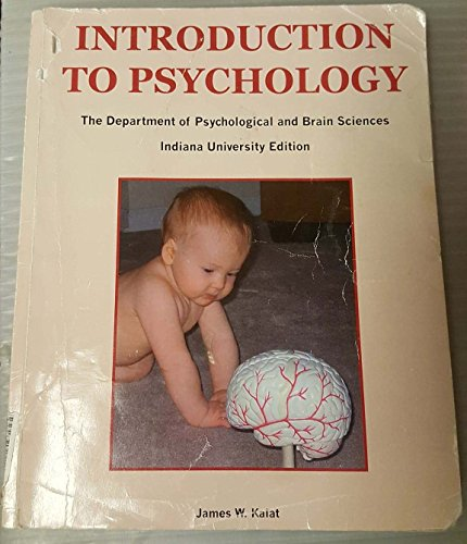 9780495562290: Introduction to Psychology (The Department of Psychological and Brain Sciences - Indiana University Edition)