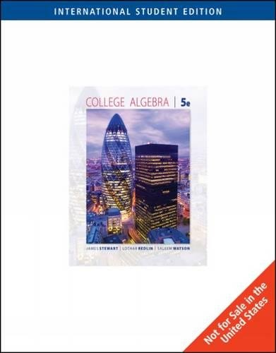 9780495565321: College Algebra 5e By James Stewart,