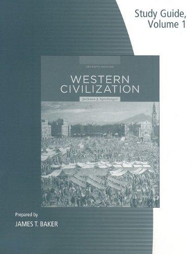 9780495566557: 1: Study Guide, Volume I for Spielvogel's Western Civilization: Volume I