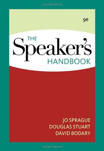The Speaker?s Handbook: Sprague, Jo; Stuart,