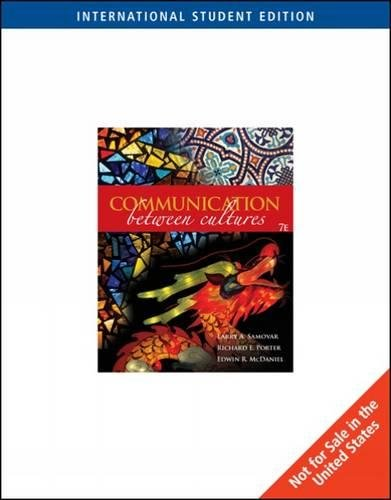 Communication Between Cultures (International edition): Samovar Porter McDaniel