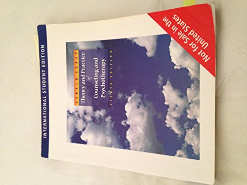 9780495595212: Theory and Practice of Counseling and Psychotherapy 8th Ed. **International Student Edition**
