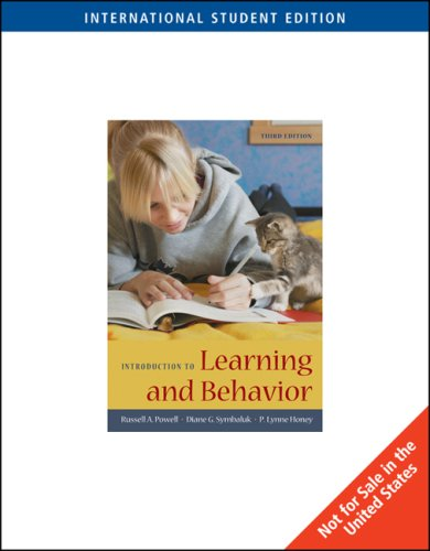 9780495595328: Introduction to Learning and Behavior