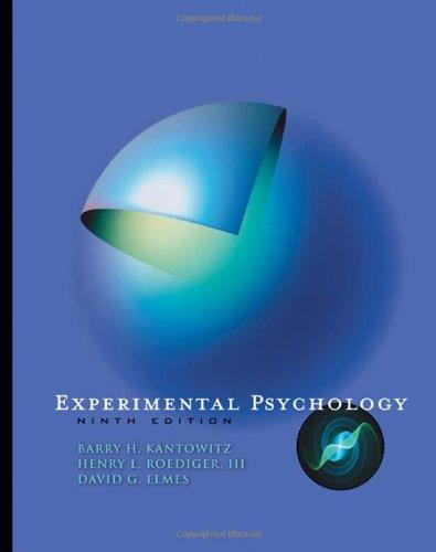 9780495595335: Experimental Psychology