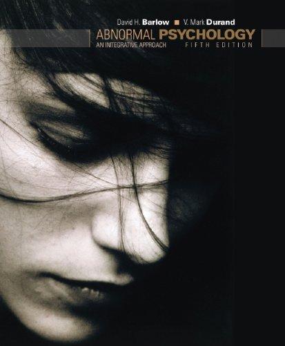 9780495595847: Abnormal Psychology: An Integrative Approach