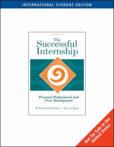 9780495596424: The Successful Internship