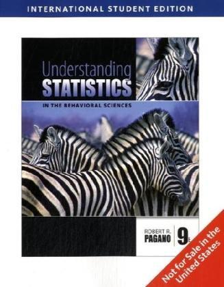 9780495596578: Understanding Statistics in the Behavioral Sciences, International Edition
