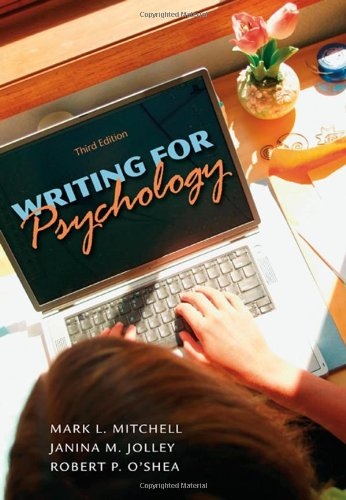 9780495597810: Writing for Psychology