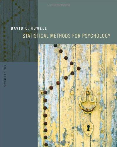 9780495597841: Statistical Methods for Psychology