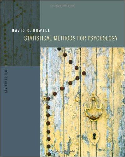 9780495597865: Statistical Methods for Psychology