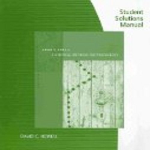 9780495597889: Student Solutions Manual for Howell's Statistical Methods for Psychology, 7th