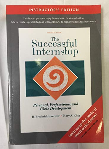 9780495598084: The Succesful Internship (Personal, Professional , and Civic Development)