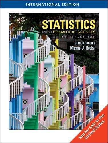 9780495598374: Statistics for the Behavioral Sciences, International Edition