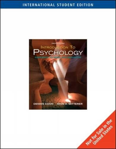 9780495599128: Introduction to Psychology: Gateways to Mind and Behavior
