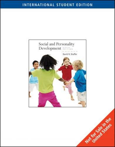 9780495600787: Social and Personality Development, International Edition