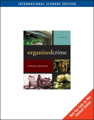 9780495601012: Organized Crime, International Edition