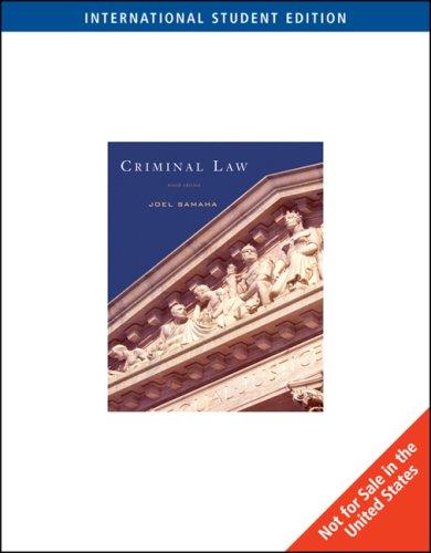 9780495601104: Criminal Law, International Edition
