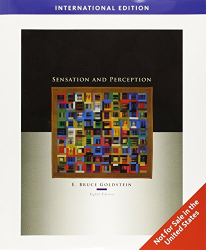 9780495601500: SENSATION AND PERCEPTION 8th Edition/International