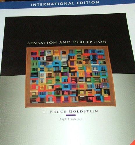9780495601500: SENSATION AND PERCEPTION 8th Edition/International