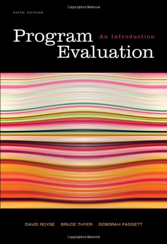 9780495601661: Program Evaluation: An Introduction, 5th Edition