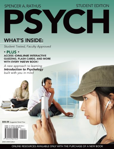 PSYCH (with Review Cards and Bind-In Printed: Spencer A. Rathus
