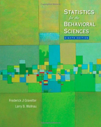 9780495602200: Statistics for the Behavioral Sciences