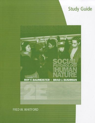9780495602224: Study Guide for Baumeister/Bushman's Social Psychology and Human Nature, 2nd