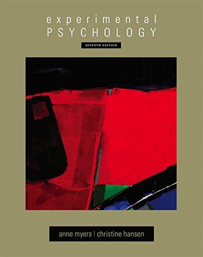 Experimental Psychology (Hardback): Anne Myers, Christine H Hansen