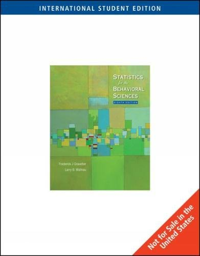 9780495602941: Statistics for the Behavioral Sciences