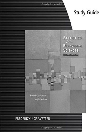 9780495602965: Study Guide for Gravetter/Wallnau's Statistics for the Behavioral Sciences, 8th